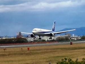 伊丹空港飛行機