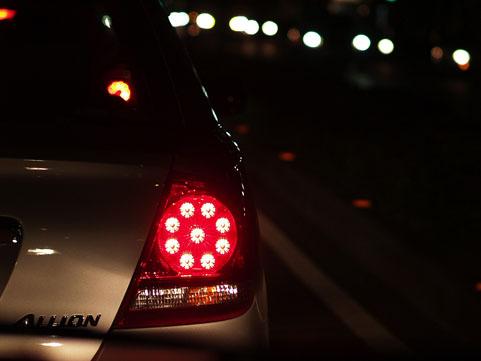 車のランプ