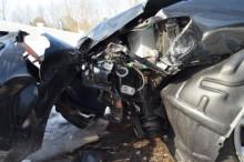 事故をした自動車