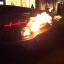 車体に引火したランボルギーニ
