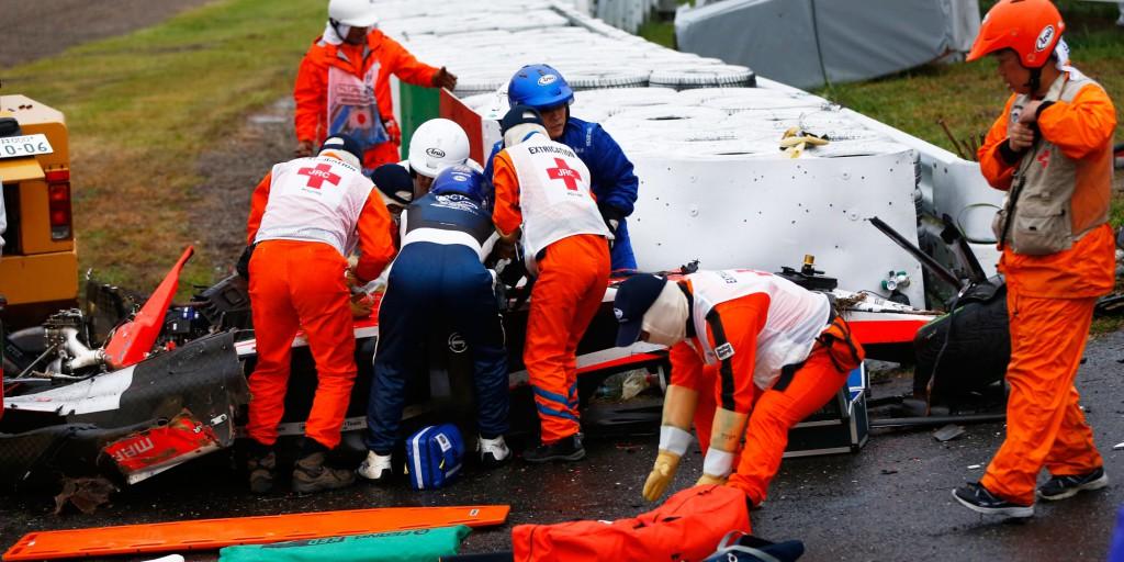 F1日本GPでのビアンキの事故