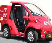 超小型電気自動車で郵便の集配実験の開始 全国初の実験が名古屋で
